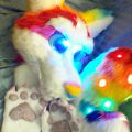 Light-Up Rainbow Husky